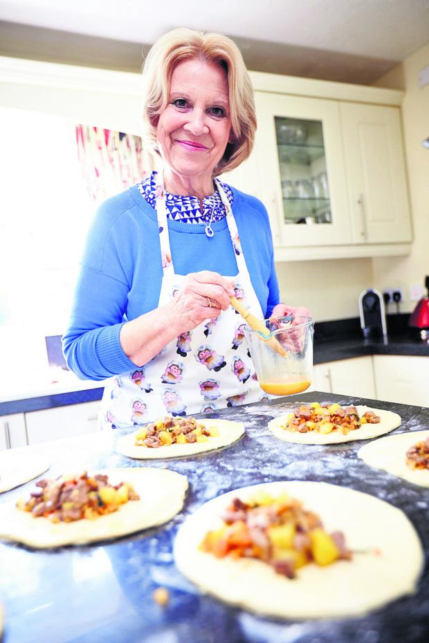thisisoxfordshire: Great British Bake Off contestant Christine Wallace pictured at her home in Didcot making the new Oxford Pasty