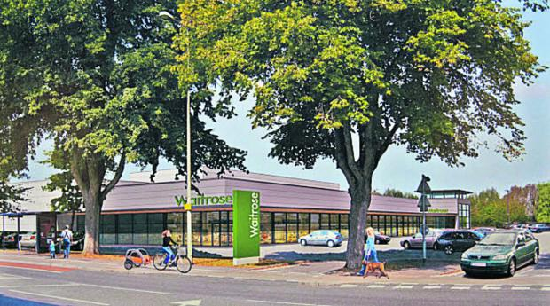 Artist's impression of how the planned Waitrose will look
