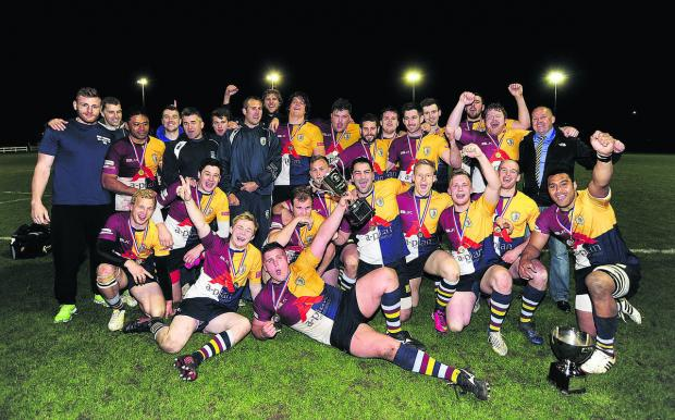 thisisoxfordshire: Oxford Harlequins' players and officials celebrate their cup success