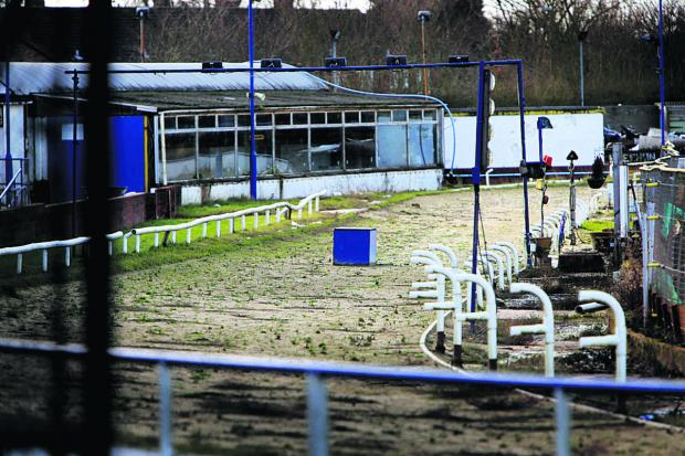thisisoxfordshire: The abandoned track at Oxford Greyhound Stadium. Picture: Damian Halliwell