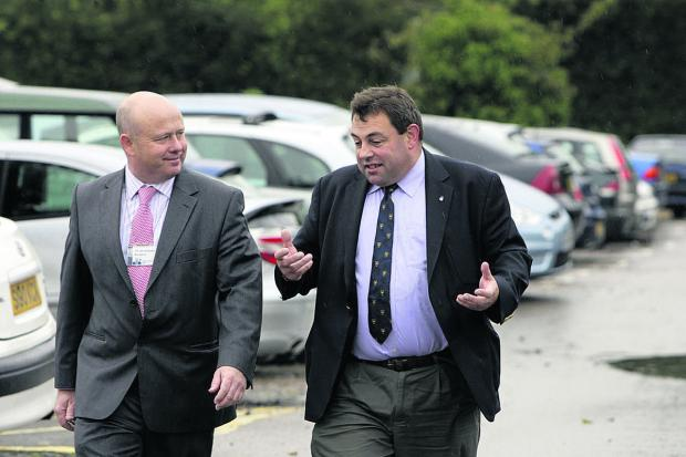 thisisoxfordshire: County council leader Ian Hudspeth, left, and city councillor Colin Cook