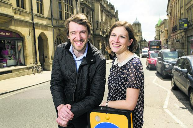 Oxford City Council workers Rebecca Jeffries and Richard Kuzi