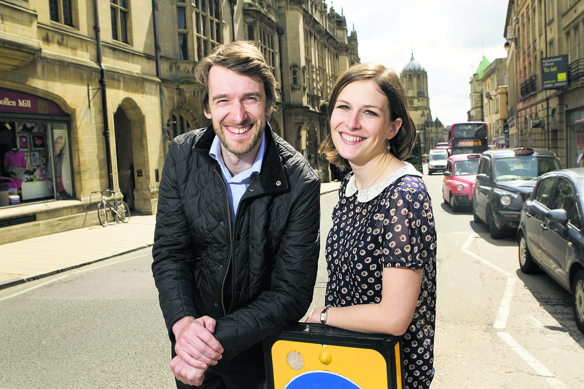 Oxford City Council workers Rebecca Jeffries and Richard Kuziara are going to appear in Food Inspectors on BBC One      Picture: OX67212 Antony Moore
