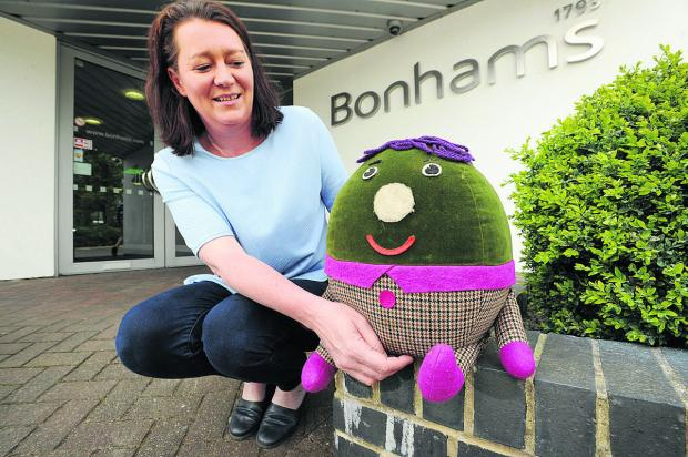 thisisoxfordshire: Rachel Gotch from Bonhams with Humpty
