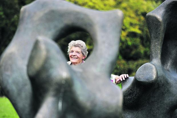 thisisoxfordshire: Margaret Plumb with one of the sculptures