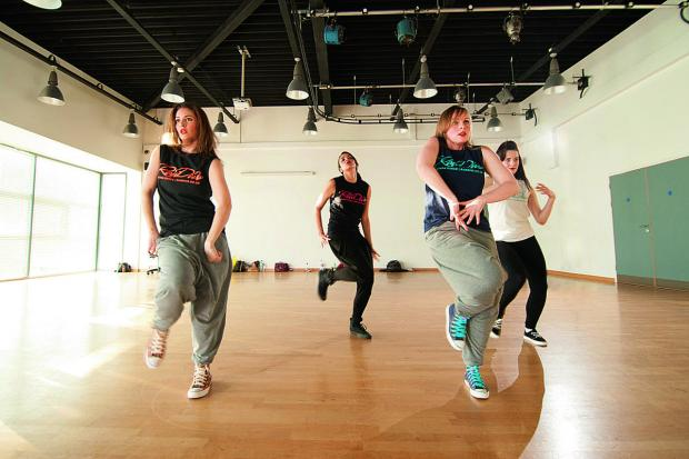 thisisoxfordshire: ance group Raw Diva in rehearsal for its Charity Showcase in aid of Mabel Prichard Special Needs school in Blackbird Leys.  Lisa Clarke right, blue tshirt, Jen Middleton, founder, front left