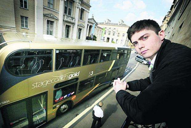 Medical student Bill Gewanter says his revision is being disturbed by diverted buses