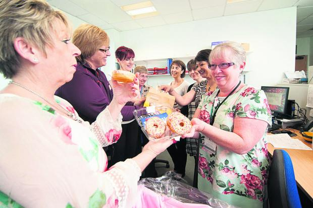 thisisoxfordshire: Doughnuts go down a treat at hospital