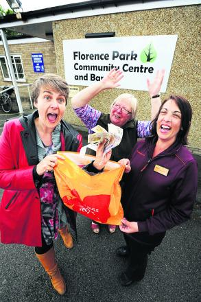 Florence Park Community Association trustees' chairwoman Stella Bell, secretary Viv Peto and Debra Johnson, from Sainsbury's Cowley