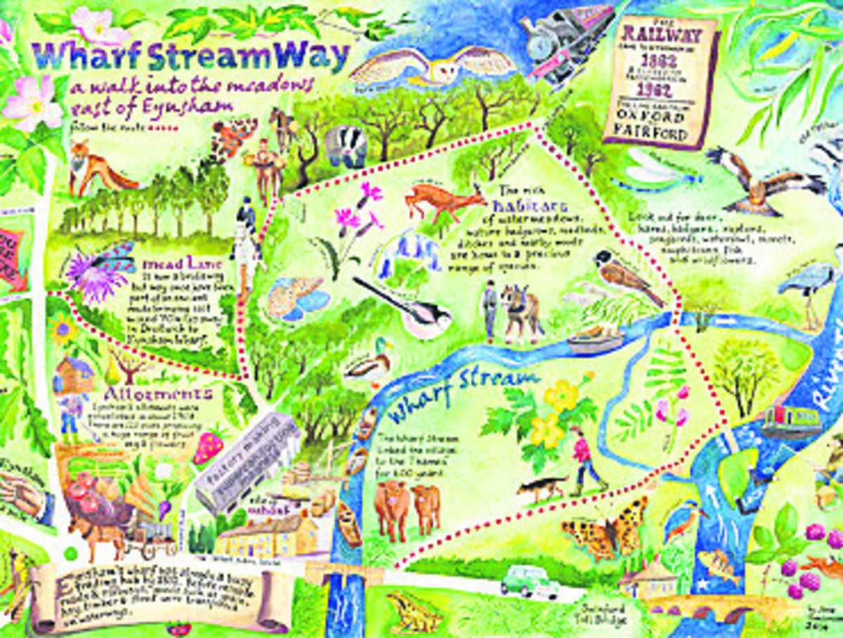 Jane Tomlinson's information panel for the Wharf Stream Way