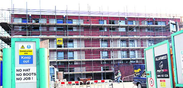 thisisoxfordshire: The work starting on the student flats block last year