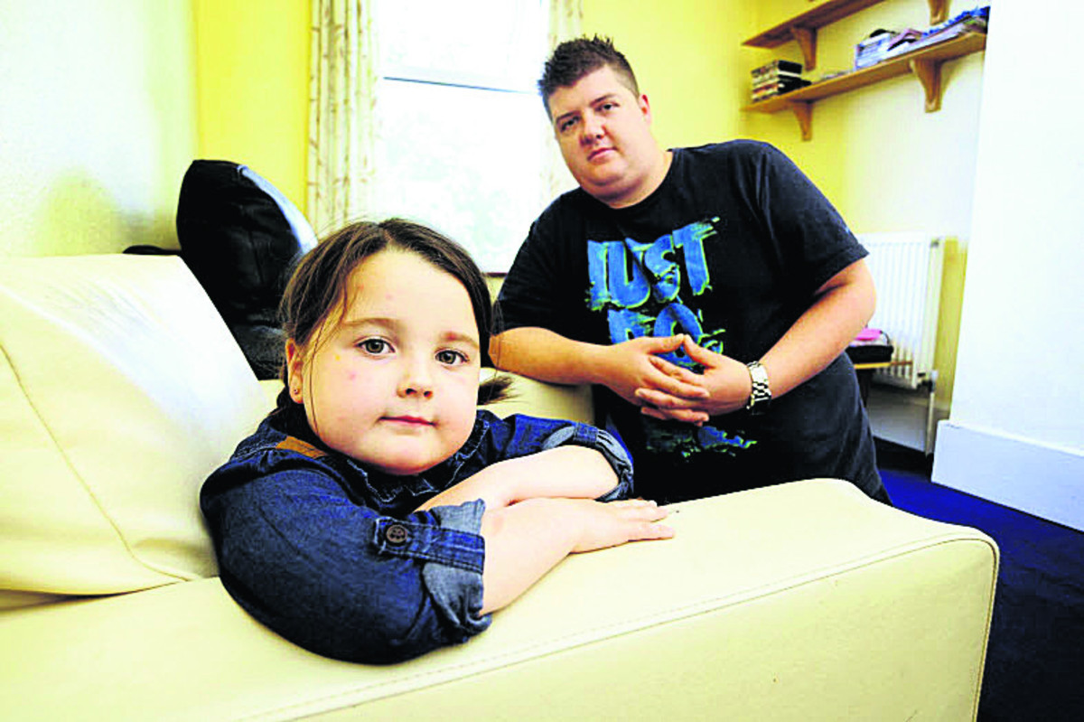 Jason Stone and his daughter Ashlie. Picture: OX67536  David Fleming