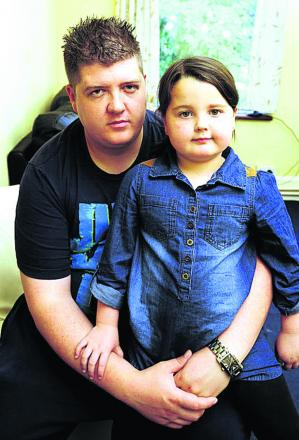 Jason Stone with his daughter Ashlie, five