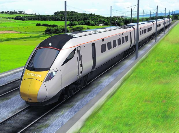 thisisoxfordshire: FUTURE  VISION: An artist's  impression of one of the new electric trains