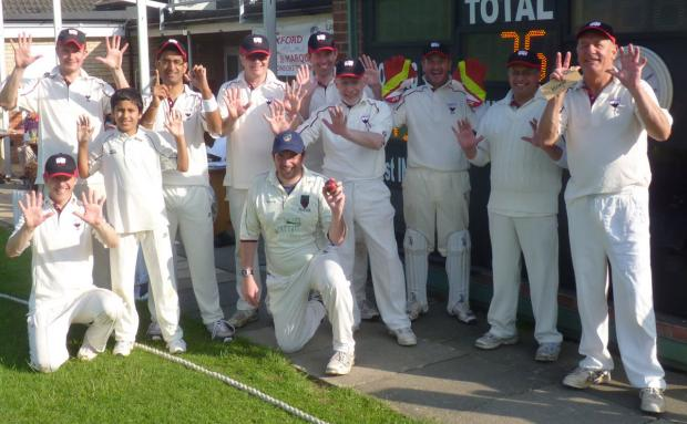thisisoxfordshire: James Lamerton (holding the ball) with his teammates
