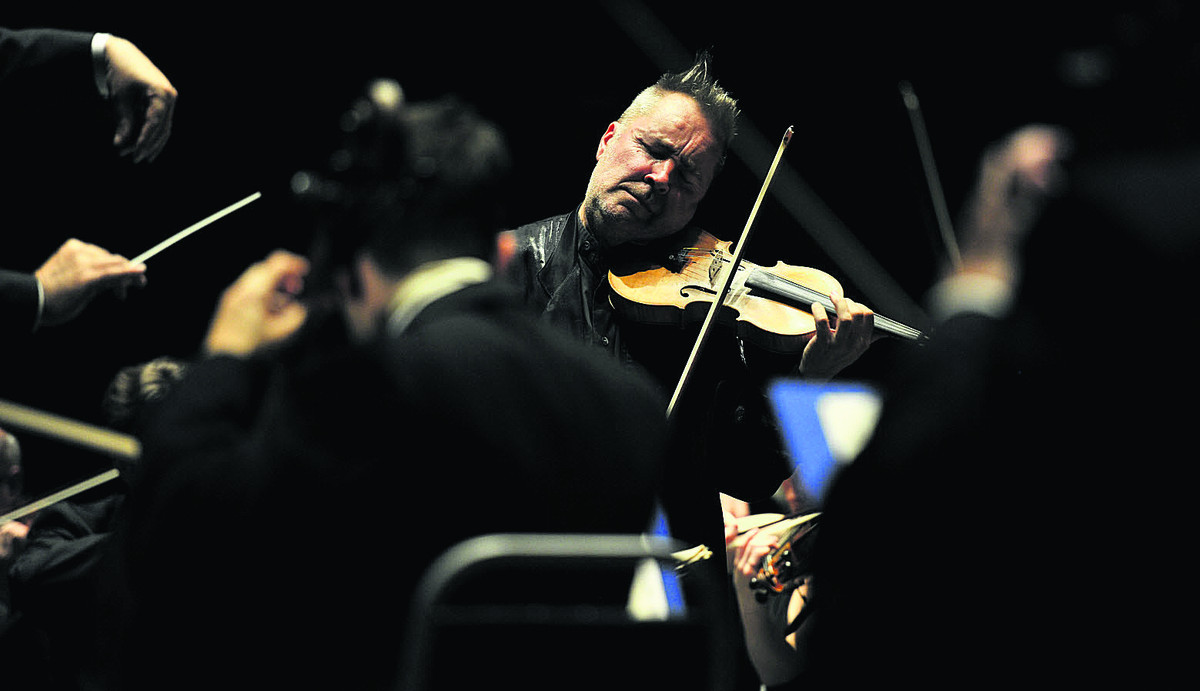Nigel Kennedy, the world's best-selling classical violinist, performs with the Oxford Philomusica Orchestra