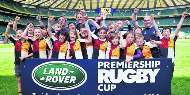 thisisoxfordshire: Oxford Harlequins Under 11s celebrate their day out at Twickenham