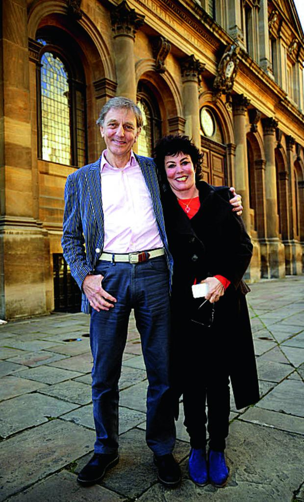 thisisoxfordshire: Ruby Wax with Prof Colin Blakemore.    Picture: OX67641 David Fleming