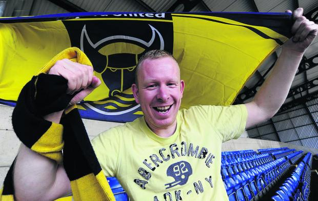 Yellow Army member Joe Nicholls