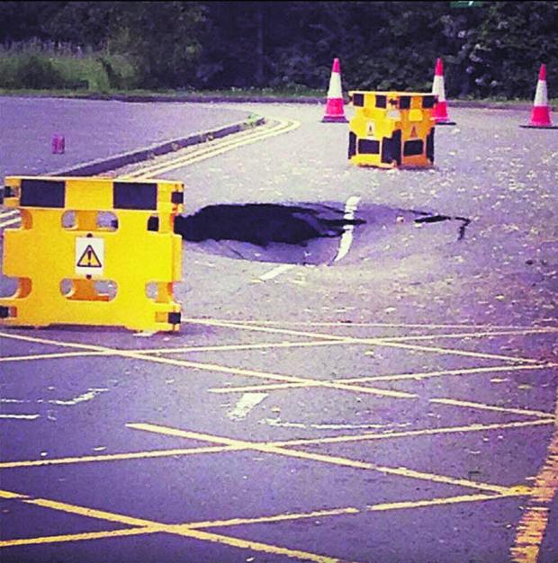 thisisoxfordshire: COLLAPSE: The sinkhole