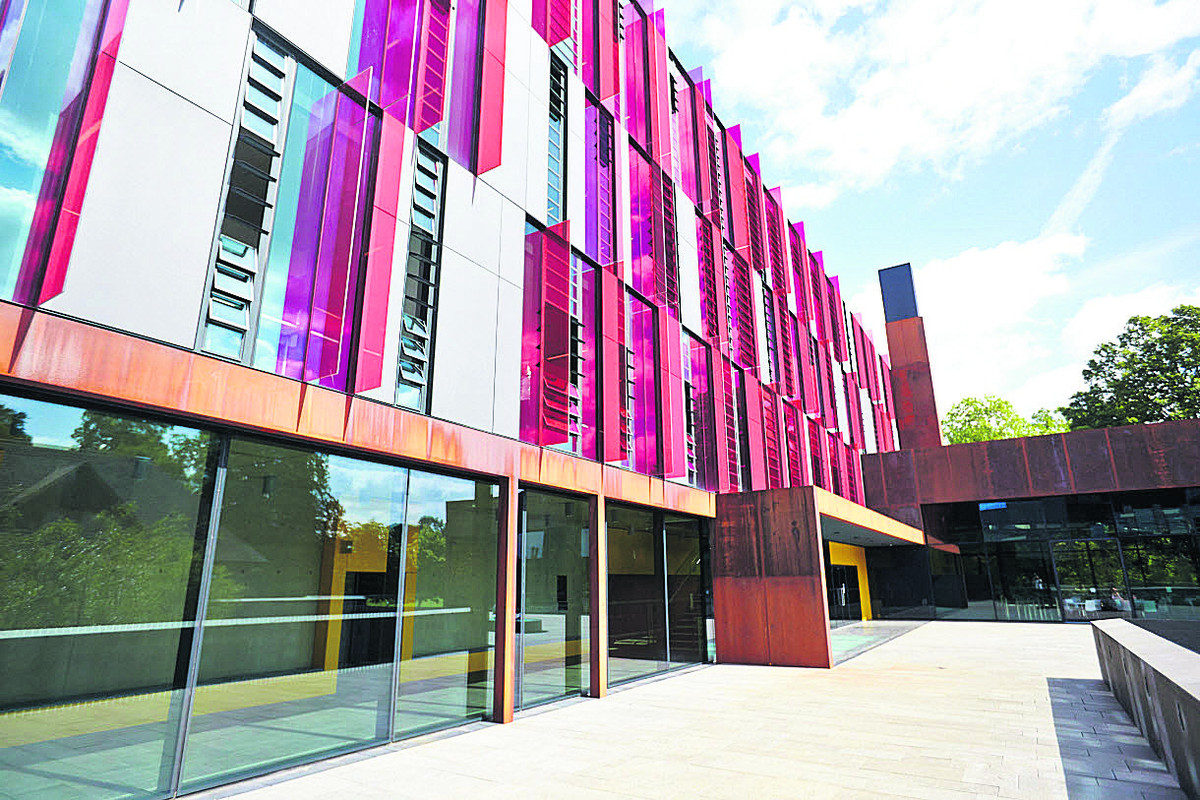The exterior of the new John Henry Brookes building