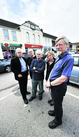 West Way campaigners Chris Church, Grant Nightingale, Gordon Stokes, Mary Gill