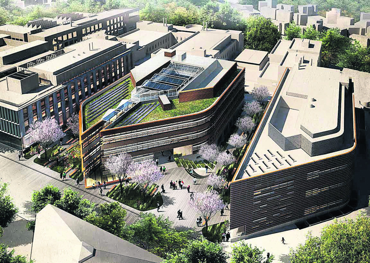 An artist's impression of the university development