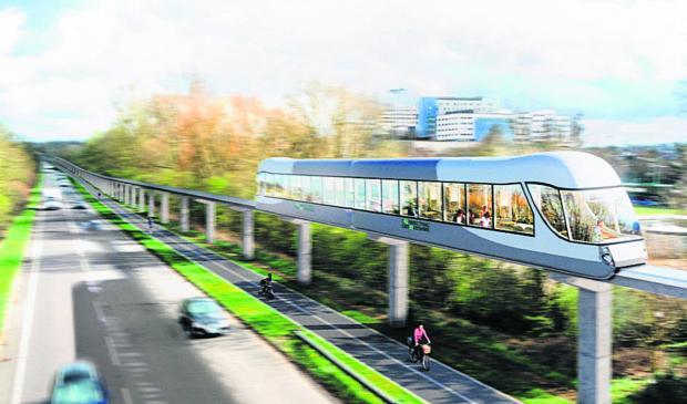 thisisoxfordshire: An artist's impression of the monorail