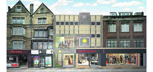 thisisoxfordshire: An artist's impression of the proposed Blacks/ Superdry