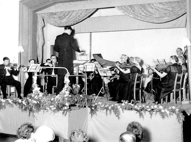 thisisoxfordshire: A Burford Orchestra concert in the 1950s