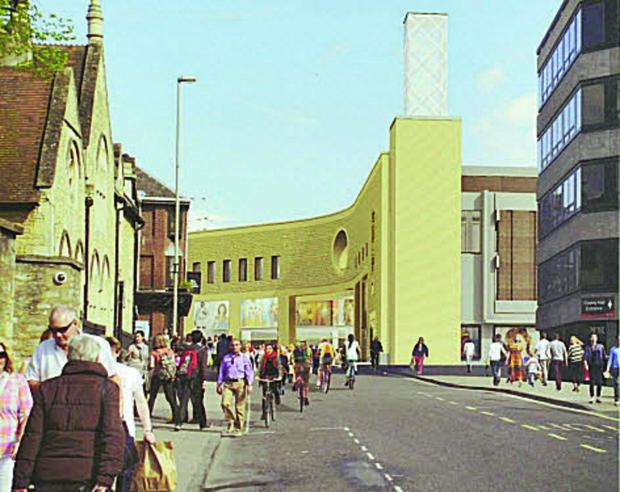 thisisoxfordshire: Artist's impression of what Westgate's exterior may look like
