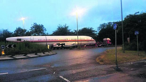 Andy Smith's picture of the Airbus A319 fuselage being taken along the A44 on Thursday night
