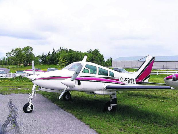 A Cessna 310 plane similar to the one used by the city council