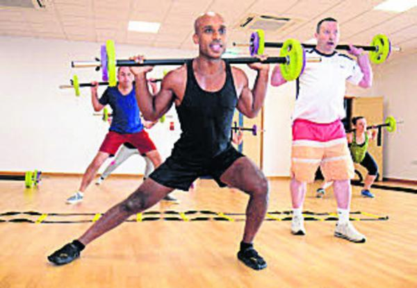 thisisoxfordshire: Marlon May leads the Body Pump class