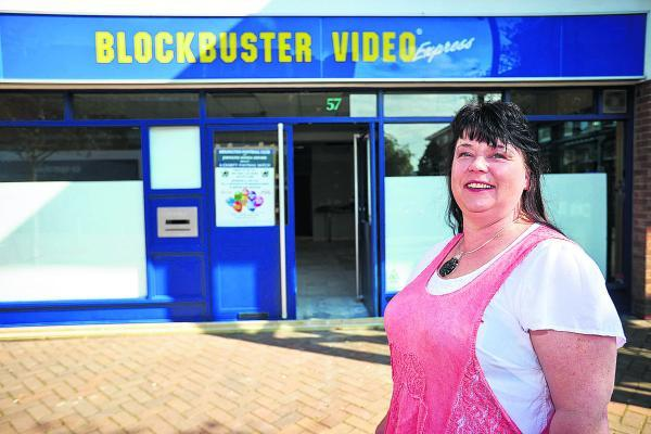 Diane Lytollis, outside the former Kidlington Blockbuster store that she is turning into a cafe. Picture: OX68285 Cliff Hide