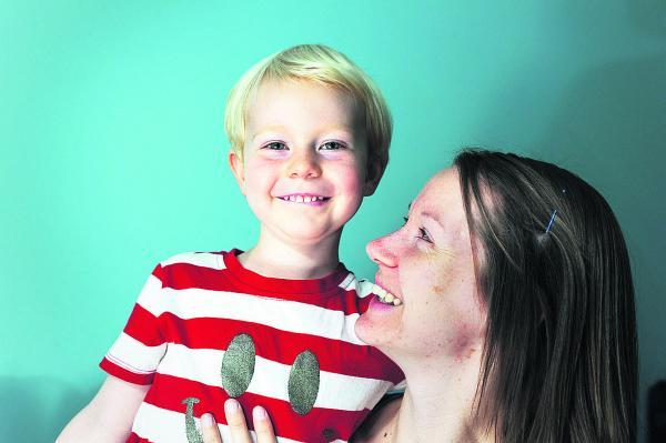 Gillian Denton, pictured with son Noah, three, t