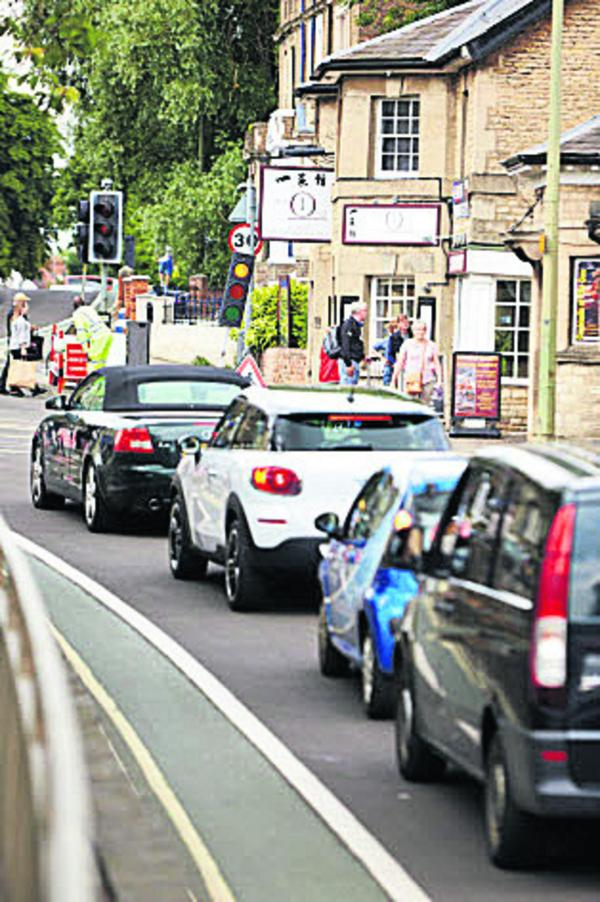 Queues on Botley Road yesterday