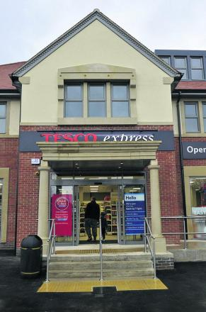 Tesco Express, Abingdon Road, is next to the site