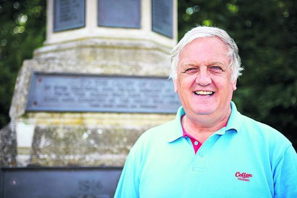 David Bretherton at Thame War Memorial. Picture: OX68520 Cliff Hide