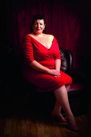 Fabia Cerra, from Greater Leys, has entered the Pin Up UK competition to represent curvy girls. Inset, Fabia starring on Britain's Got Talent in 2009
