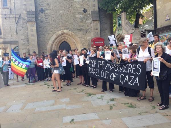Oxford vigil in support of Gaza scholar