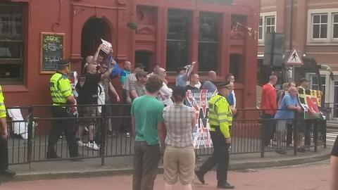 Pictures: 'National Front' protest and counter protest spark disturbance at Gloucester Green bus station