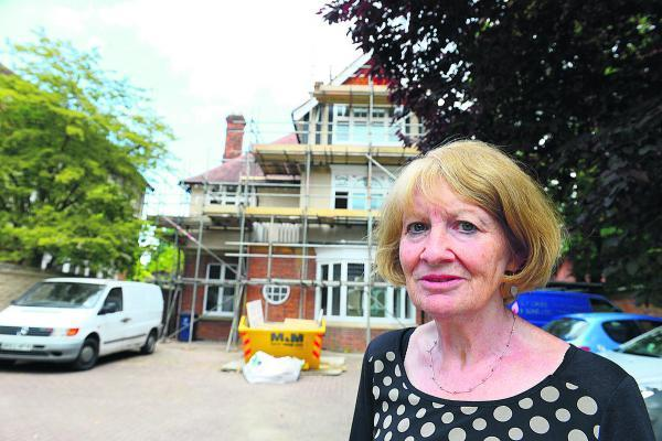 thisisoxfordshire: City councillor Elizabeth Wade outside the property