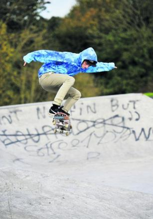 James Needham at the skate p