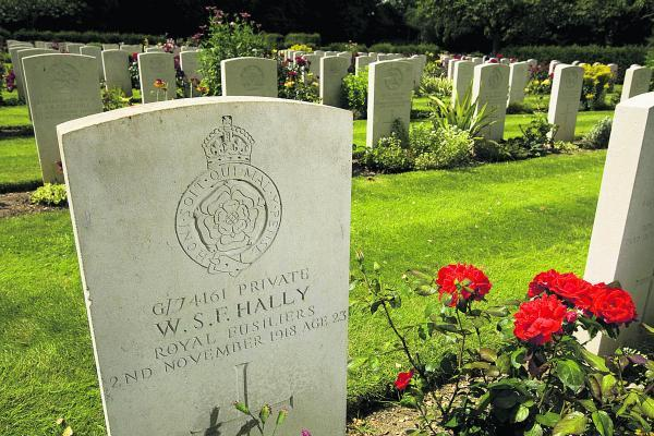 The Commonwealth War Graves cemetery at Botley