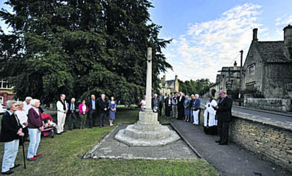 The rededication of the war memorial at Shipton-Under Wychwood