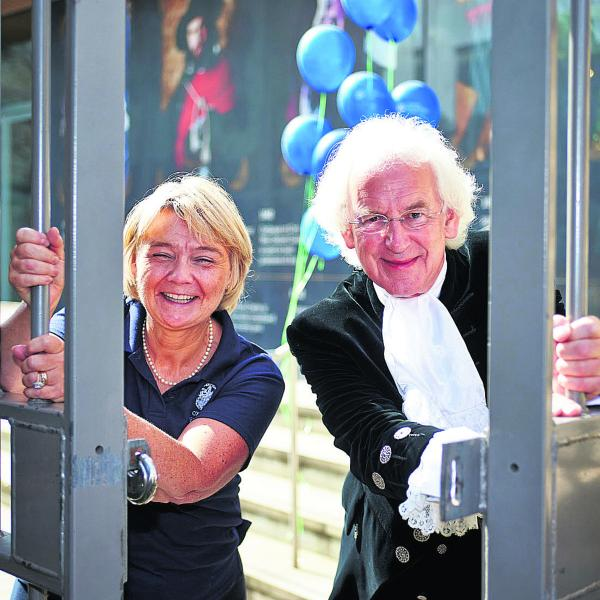 Debbie Dance of the Oxford Preservation Trust, and Oxfordshire High Sheriff Tony Stratton launch this year's Open Doors event. Picture: OX69002 Cliff Hide