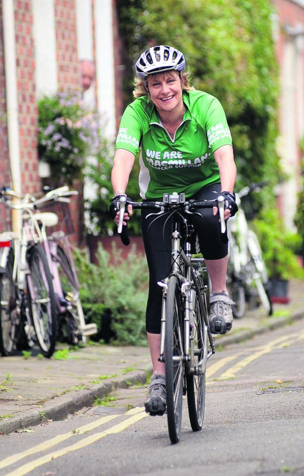 Dr Catharine Benson preparing for her 100-mile cycle ride in aid of Macmillan Cancer Support
