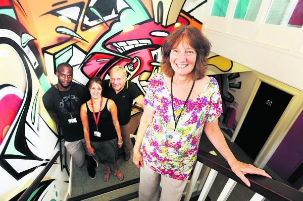 Early Intervention team leader Alison Barlow, front, with coll