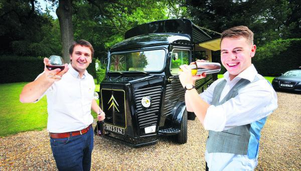 thisisoxfordshire: Alistair Sanderson and Andrew Gregory with their mobile cocktail bar